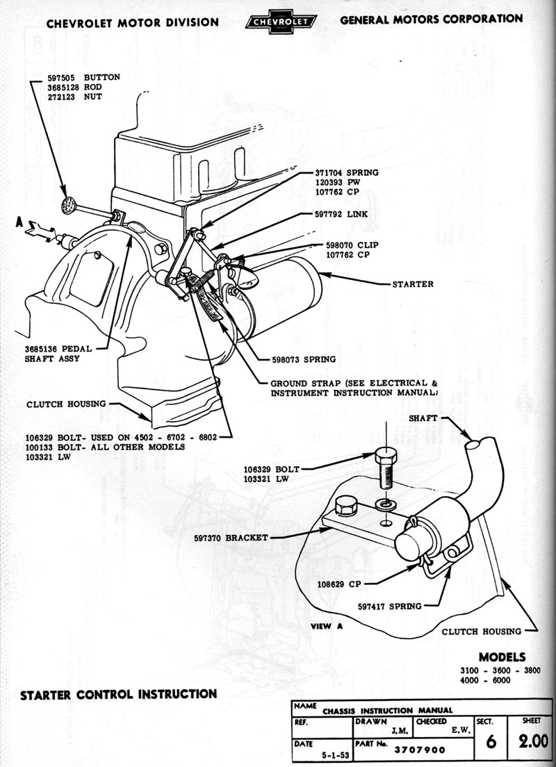 1954 chevy truck documents